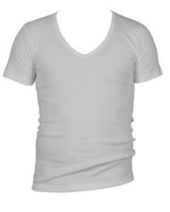 Diepe v-hals T-shirt